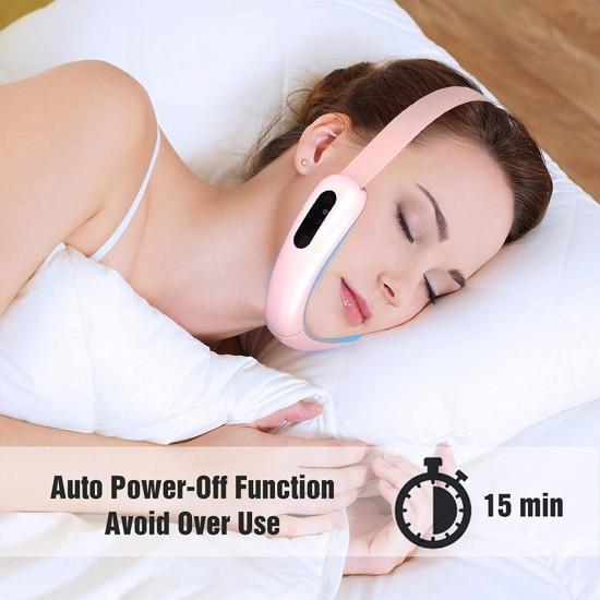 V-Face Shaping Massager, Micro Current 6 Kinds of Massage Modes for Double Chin Removal Skin Firming Lifting, Wireless and Portable,for Home/Office/Travel