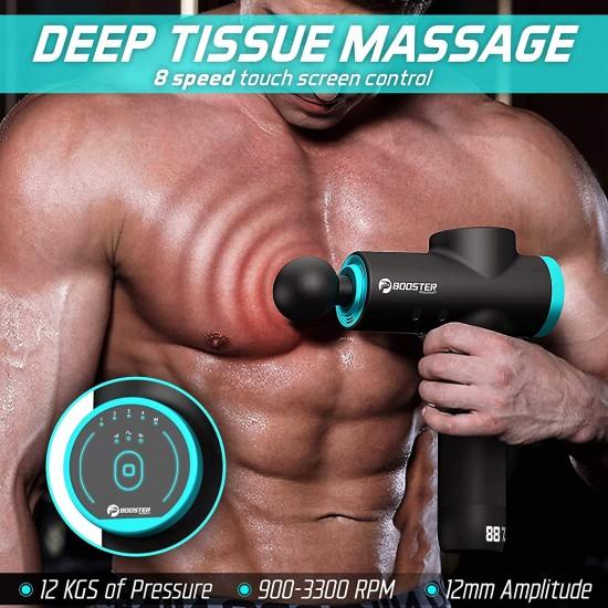 BOOSTER M2 Massage Gun, Massager for Neck and Back-Muscle Massage Gun-Massage Gun Deep Tissue-Percussion Massage Gun, Deep Tissue Massage, Massagers Handheld Deep Tissue - Massage Gun for Athletes