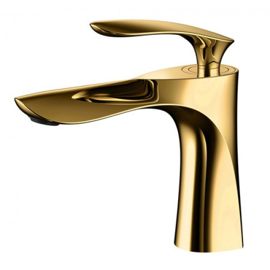 Basin Faucet Bathroom Gold Handle Black Body Faucet Painting Finish Basin Sink Tap Mixer Hot & Cold Water Faucet in Basin Faucets from Home Improvement