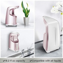 Automatic Touchless Hand Sanitizer Dispenser, Automatic Soap Dispenser 15.2oz/450ml, 4-Level Adjustable, Countertop/Wall-Mounted for Familly/Commercial Use, Rose Pink