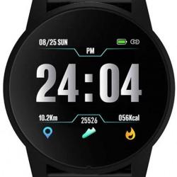B2 1.3inch TFT Smartwatch Dynamic Heart Rate Blood Pressure Oxygen Monitor Round Dial Sport Modes Waterproof Smart Watch,Black
