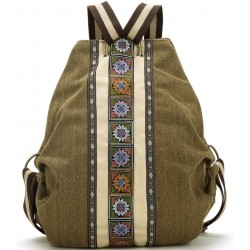 Women Canvas Backpack Daypack Casual Shoulder Bag, Vintage Heavy-duty Anti-theft Travel Backpack