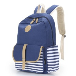 Upgraded Canvas School Backpack Casual Laptop Bag Lightweight Travel Backpack for girls