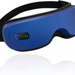 Eye Massager,Portable Electric Bluetooth Eye Massager with Heat Air Pressure Vibration,Relieve Eye Strain Dark Circles Eye Bags Dry Eye Improve Sleep