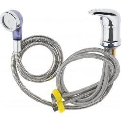 Basin Faucet Shower Head Wash Hair Tap Mixing Valve for Salon Punch Shampoo Bed Bowl or Backwash Unit, Chrome