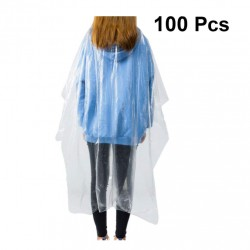 100pcs Hair Cutting Apron Hair Salon Cape Protective Coveralls Gowns Disposable Medical Protection Overalls Chemical Capes Waterproof