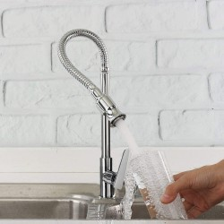 360 Rotatable Kitchen Bar Bathroom Sink Faucet Single Cold Water Flexible Neck Laundry Room Garden Outdoor Application Faucets Tap