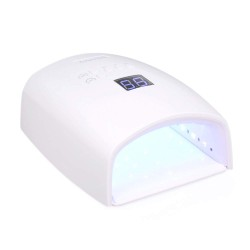 Gel UV LED Nail Lamp 48W, Rechargeable Dryer Quick-Drying for All Nail Gels Polish, Portable Nail Art Curing Light with Wireless LCD Display 5 Timer Setting for Fingernails Toenails