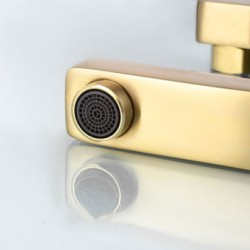 Brushed Gold Shower Faucet Set Rainfall Shower With 3-way H/C Mixer Tap Valve