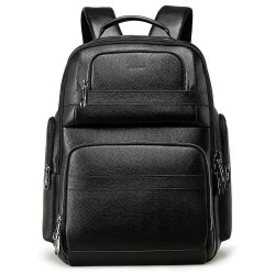 40L Genuine Leather Backpack for Men 15.6 inch Laptop Backpack with USB Charging Business Travel Backpack