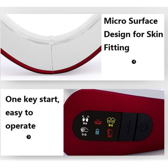 Thin Face Artifact Micro-Current Facial Massager Face-Lifting Instrument V Face Thin Masseter Red Blu-ray Beauty Instrument