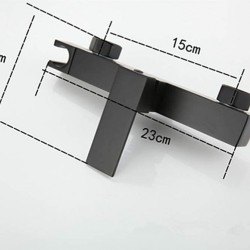 Bidet Faucet Set Hot & Cold Mixer Black Square Toilet Corner Valve Handheld Hygienic Shower Head Wash Car Pet Sprayer Airbrush Tap,Black