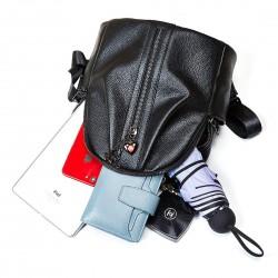 Black Women's Backpack Casual Daypack Fashion Shoulder Bag for Ladies and Girls (Black)