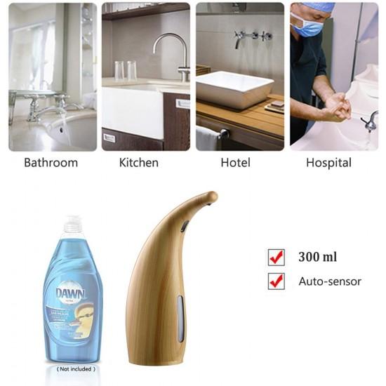 Automatic Soap Dispenser, Deep Waterproof Liquid Hands-Free Automatic Soap Dispenser Pump with Infrared Smart Sensor Non-Contact Foam Shampoo Dispenser for Suitable for Kitchen Bathroom