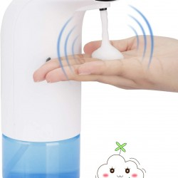 Soap Dispenser,Automatic Foaming Liquid Soap Dispenser, Touchless Waterproof Soap Pump with Infrared Motion Sensor, Adjustable Soap Dispensing Volume for Kitchen Bathroom School Hotel 10.1oz