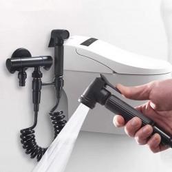 Bathroom Shattaf Black Bidet Set Bidet Shower Faucet Women Washing Spray Gun Bidet Shower Set Sprayer Bidet Shower Set Retro