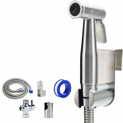 Bidet Sprayer for Toilet and Baby Cloth Diaper Sprayer- Easy to Install, Great Hygiene with Less Money Spent (Brushed Nickel)