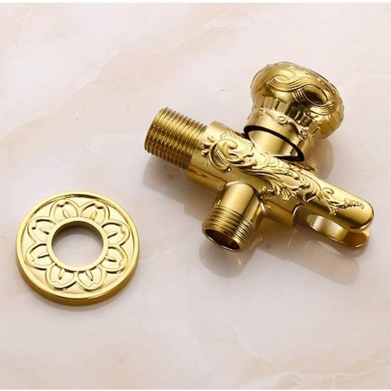 Toilet Handheld Bidet Spray Gold Cloth Diaper Sprayer Kit Set for Rear Washing Bath Closestool Squatting Pan Water Flower Floor Cleaning