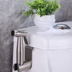Bidet Sprayer for Toilet Set, Hand Held Cloth Diaper Sprayer Shattaf Kit, Stainless Steel, Brushed Nickel