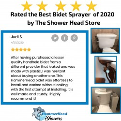 All Metal Handheld Bidet Sprayer for Toilet, Chrome | Universal T-Valve Adapter Attachment | Perfect Toilet Paper Substitute | Leak Free, DIY Installation, Built to Last with Stainless Steel and Brass