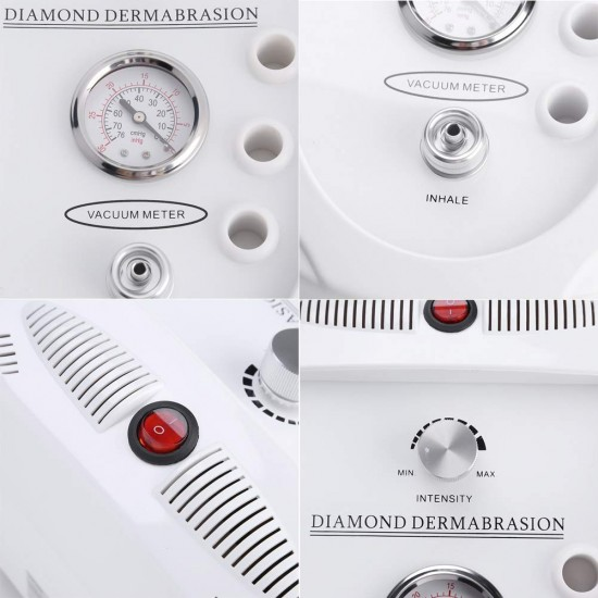 Diamond Microdermabrasion Machine, 65-68cmhg Suction Power Professional Dermabrasion, Home Use Facial Skin Care Equipment