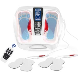 Foot Massager Machine EMS Foot Circulation Stimulator(FSA or HSA Eligible) with TENS Electrical Muscles Stimulator Feet Legs Health for Neuropathy Pain Relief - Reduce Legs Soreness and Swelling