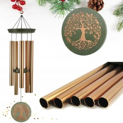 Wind Chimes Outdoor Deep Tone,36 Inch Large Memorial Windchimes for Loss of Loved One Engrave Tree of Life,Sympathy Wind Chimes Gifts for Mother,Garden Home Yard Hanging Decor