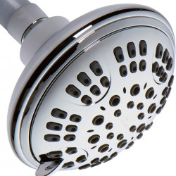 6 Function Luxury Handheld Shower Head - Adjustable High Pressure Rainfall Spray With Removable Hand Held Rain Showerhead For The Bathroom, 1.8 GPM