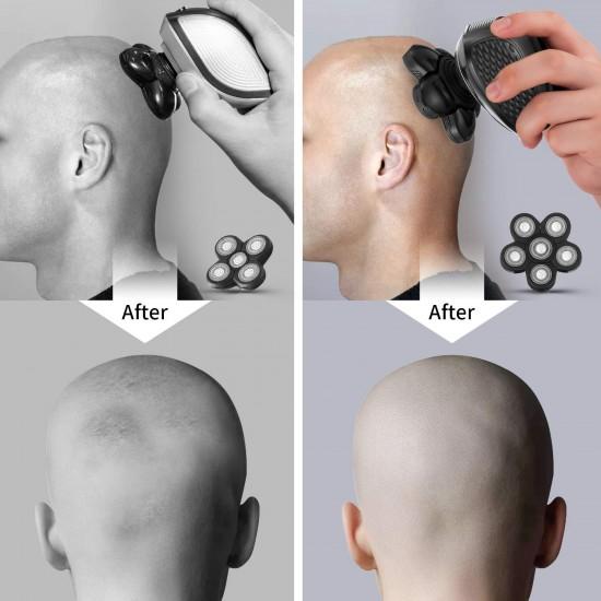 Electric Razor for Men - Upgrade 5 in 1 Shavers for Men - Multifunctional Bald Head Shaver Grooming Kit - USB Rechargeable Electric Shavers for Men - Cordless Waterproof Hair Trimmer for Men (Gray)