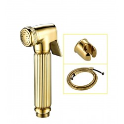 Hand Held Bidet Sprayer Brass Douche Toilet Kit Hand Held Toilet Shattaf Shower Head Valve Set Faucet Gold