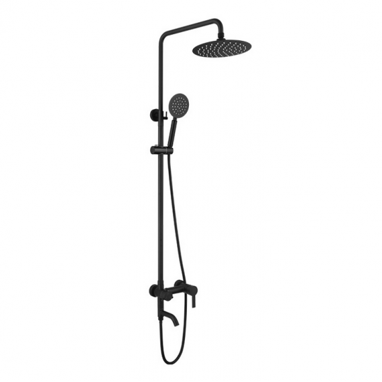 "Outdoor Shower Fixtures,SUS 304 Stainless Steel Wall Mounted 3 Functions Shower Systems Faucet Set with 7.9"" Rain Shower,Brushed Nickel"