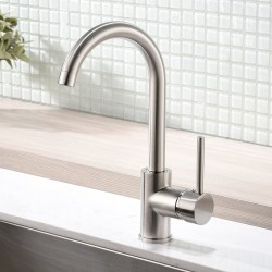 Modern Bar Sink Faucet Bar faucet for Kitchen Sink Single Handle Hot and Cold, Brush Nickle Prep Sink Faucet