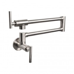 Pot Filler Faucet Wall Mount,Brushed Nickel Finish and Dual Swing Joints Design