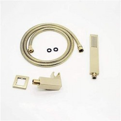 Brushed Gold Bathroom Brass 12 Inch Ceiling Mount Rain Mixer Rainfall Shower Faucet System Combo Set