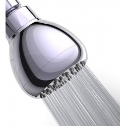 High Pressure Shower Head - 3 Inch Anti-leak Fixed Chrome Showerhead - Adjustable Metal Swivel Ball Joint